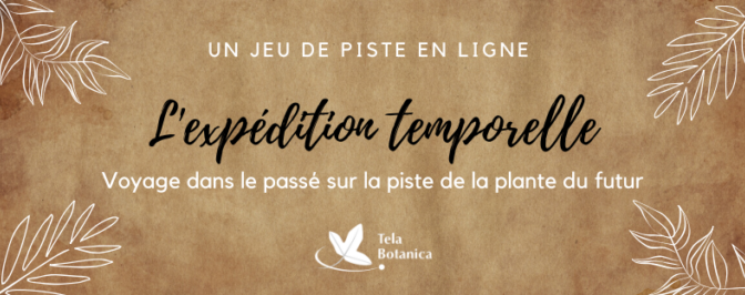 L'expédition temporelle : le nouveau jeu de piste en ligne de Tela Botanica !
