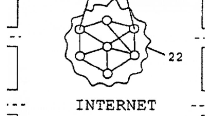 La forme d'Internet, d'après les brevets